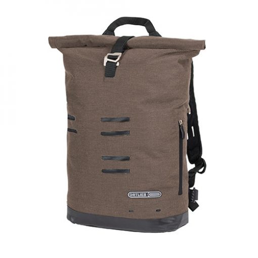 Mochila cafe marron impermeable bike commuter