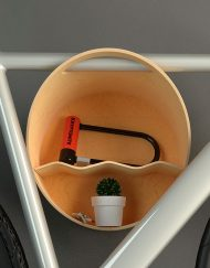 Soporte Cova Bici Pared Parking Blanco