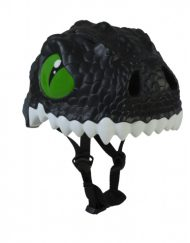 Helmet Crazy Safety Bike dragon negro dientes niños