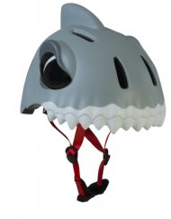 Casco bici niño seguridad divertido white shark