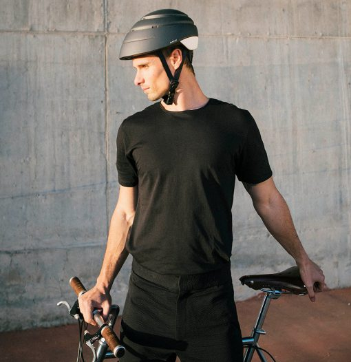 Casco plegable loop para bicicleta grafito